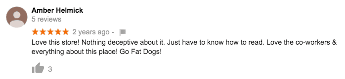 Fat Dog Customer Review #1
