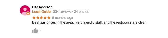 Fat Dogs Gas Station Customer Review 5 Star
